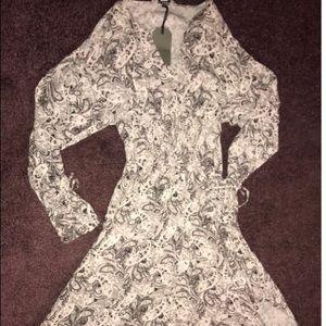 All Saints Long Sleeve Floral Paisley Dress NWT XS